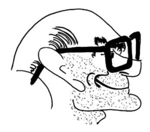 Dr. Dragomán Gerő Pál - Gyárfás L. Miklós karikatúrája